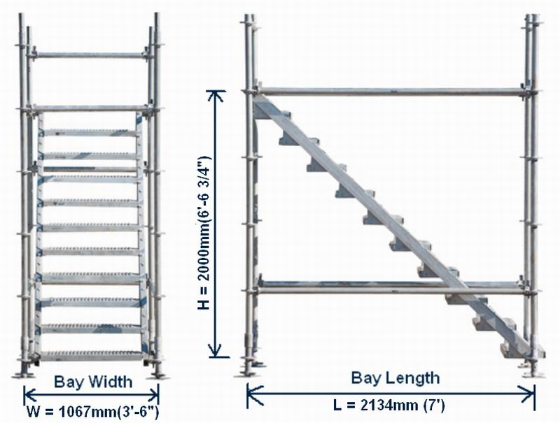 System Scaffolding Stringer Stair